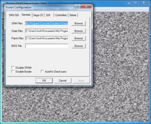 Fusion - Folder Configuration