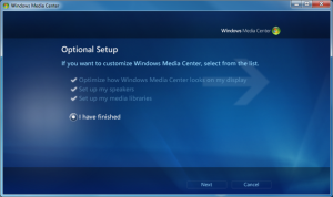 WMC - 12 - Optional Setup Finished