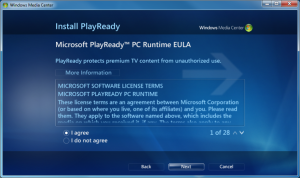 WMC - 18 - Settings_General_WMC Setup_PlayReady EULA