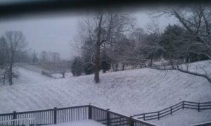 It's a white Christmas in Tennessee!