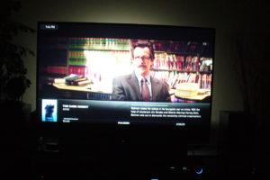 TV with bias light on