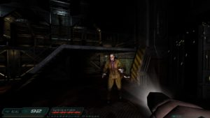 Screenshot of Doom 3 zombie in 1080p resolution.