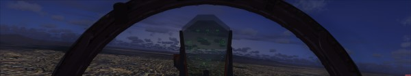 Screenshot of zoomed out FOV in FSX using Eyefinity