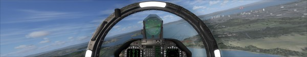Screenshot of fixed FOV in FSX using Eyefinity