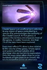 Screenshot of Mass Effect 3 Datapad Codex Entry