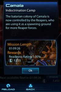 Screenshot of Mass Effect 3 Datapad App Galactic Readiness deployment