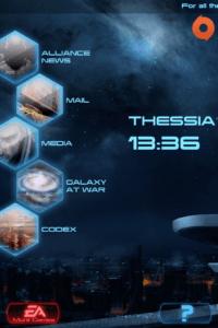 Screenshot of Mass Effect 3 Datapad menu