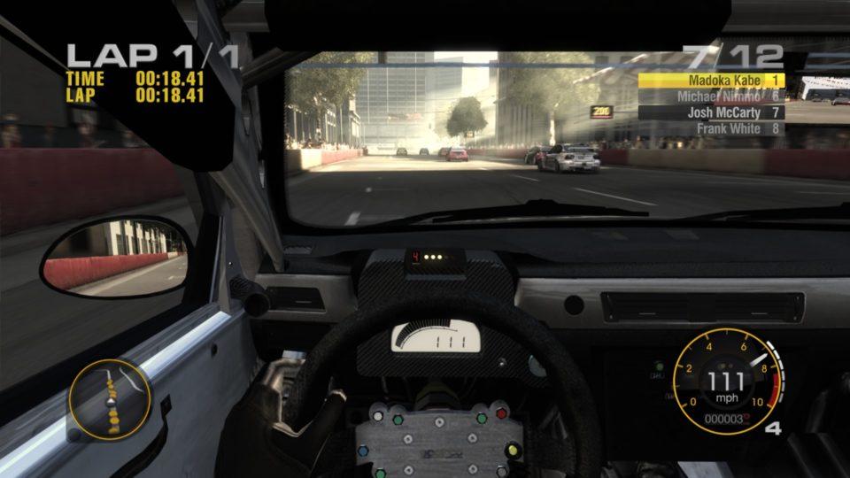 Screenshot of GRID running in 1080p resolution.