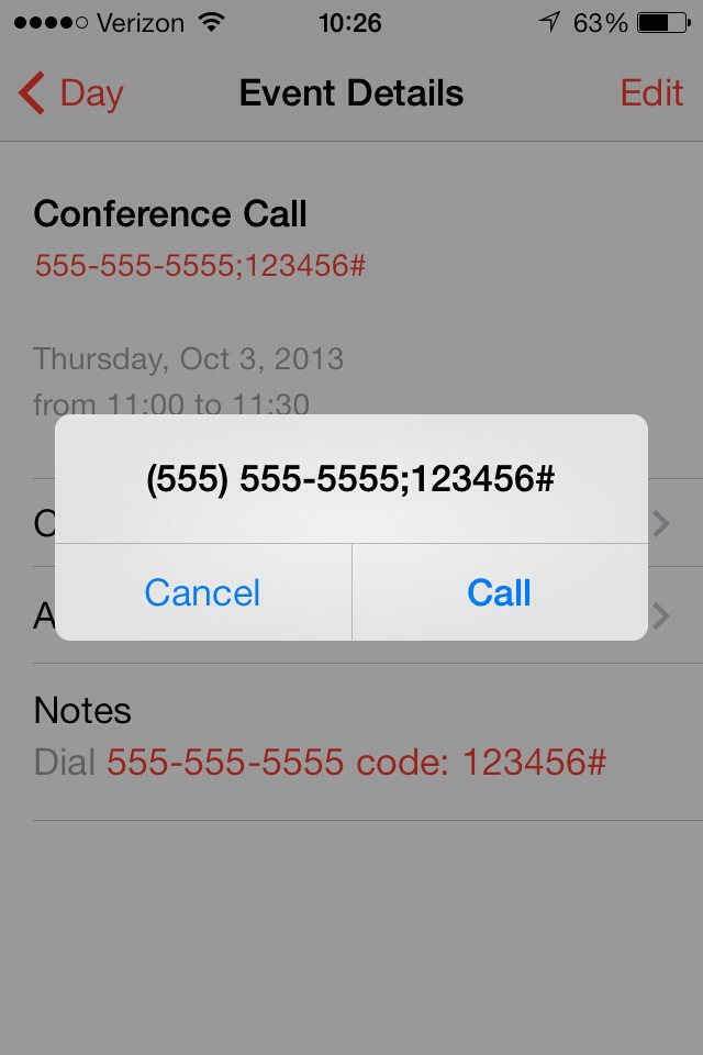 iPhone Conference Call Prompt