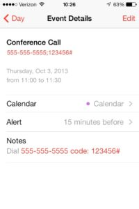 iPhone Conference Call Event