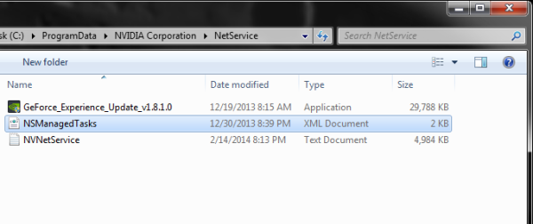 Screenshot of NSManagedTasks.xml file.