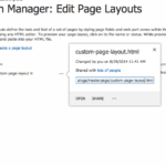 SharePoint 2013 Page Layout Screen